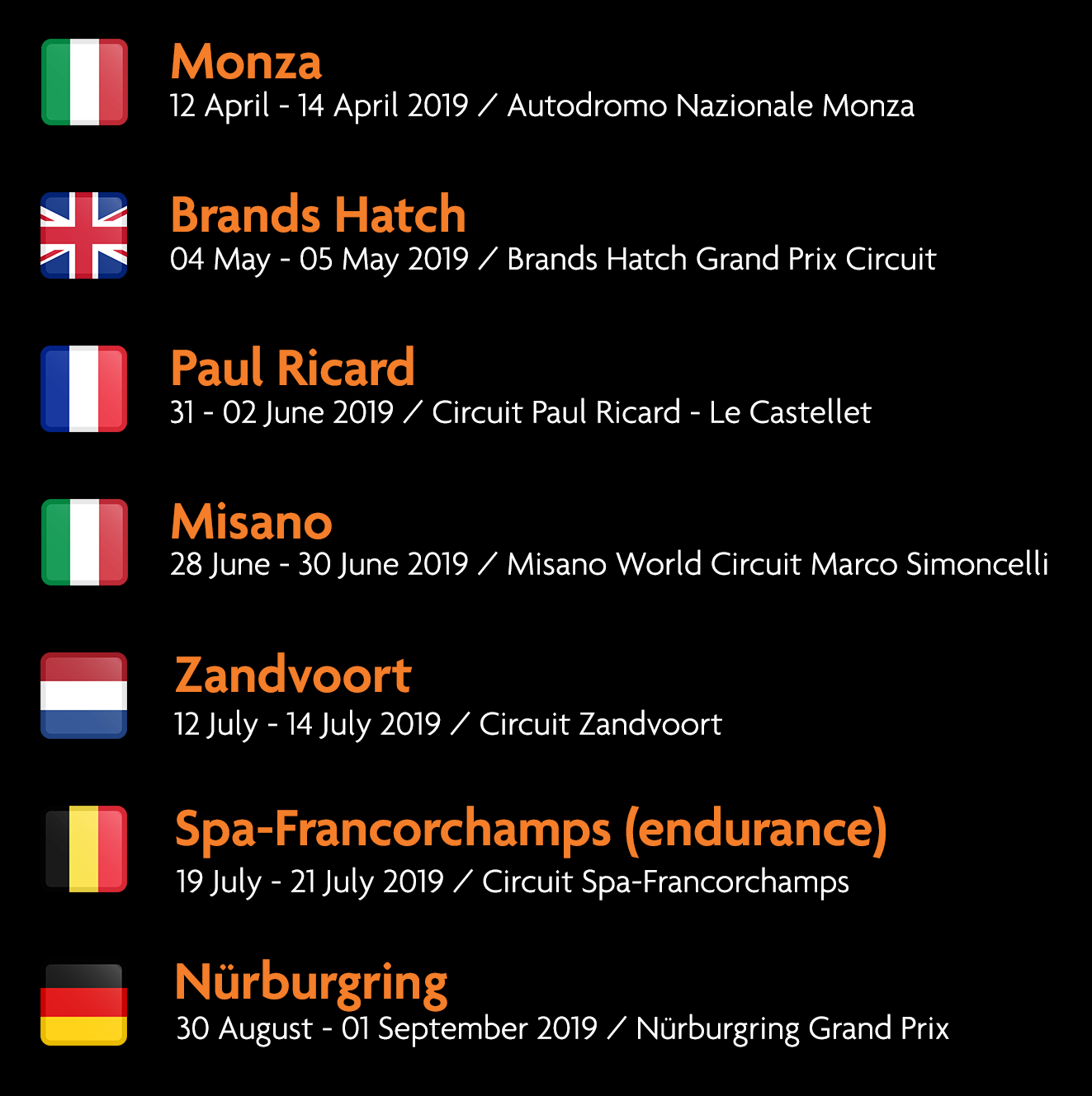 Race Calendar.Race Calendar Fj Racing